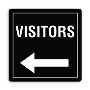 Visitors Direction Sign with Left Arrow