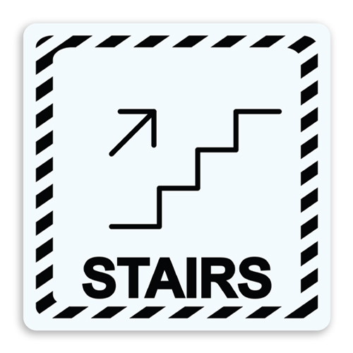 Stairs with Arrow Up Sign