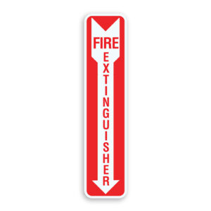 Fire Extinguisher Safety Sign Oblong Shaped