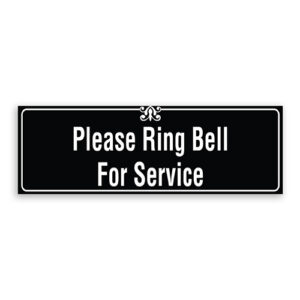 Please Ring Bell for Service Sign with Border and Decoration