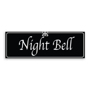 Night Bell Sign with Fancy Font, Border and Decoration