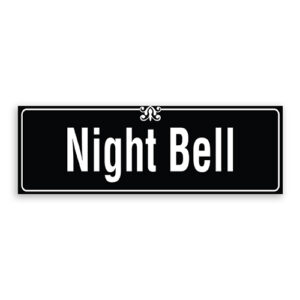Night Bell Sign with Border and Decoration
