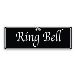 Ring Bell Sign with Fancy Font, Border and Decoration