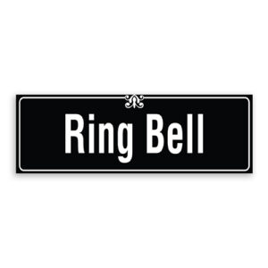Ring Bell Sign with Border and Decoration