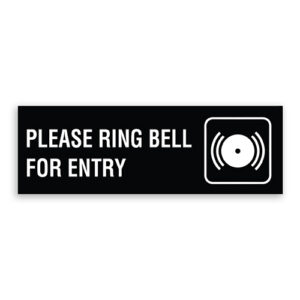 Please Ring Bell for Entry Sign with Bell Logo