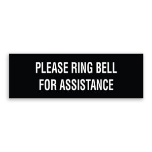 Please Ring Bell for Assistance Sign Plain