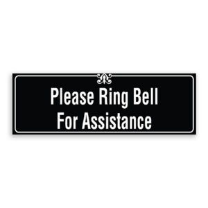 Please Ring Bell for Assistance Sign with Border and Decoration