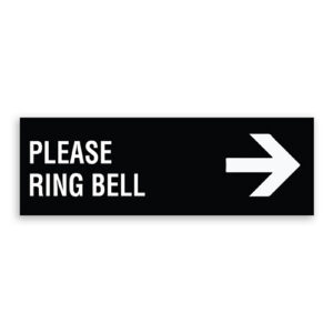 Please Ring Bell Sign with Right Arrow
