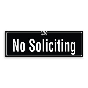 No Soliciting Sign with Border and Decoration