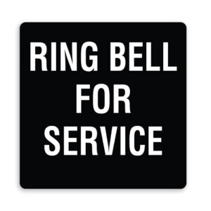 Ring Bell for Service - Plain