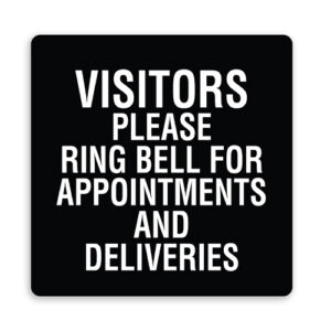 Visitors Please Ring Bell for Appointments - Plain