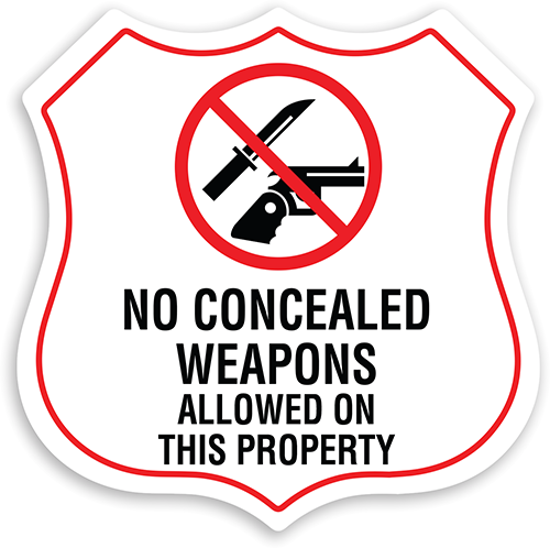 No Weapons on Property